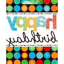 Amscan Fun Modern Birthday Dots Universal Specialty Bag,