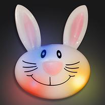 Happy Bunny Rabbit Soft Rings with Flashing LEDs