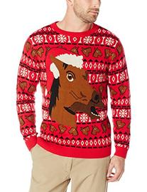 Alex Stevens Men's Happy Holidays Horse Ugly Christmas