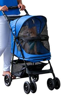 Pet Gear No-Zip Happy Trails Pet Stroller, Zipperless Entry