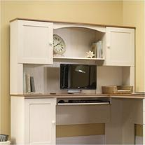 Sauder Harbor View Hutch  in Antiqued White