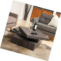 Great Deal Furniture Haring Square Rotating Wood Coffee