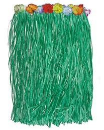 Loftus Hawaiian Green Grass Hula Table Skirt w Flowers Luau