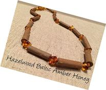 Hazelwood Baltic Amber Necklace 11 Inches Brown Honey Yellow