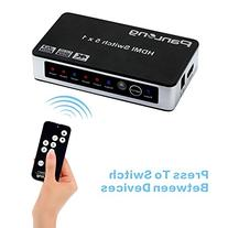 Panlong 5x1 HDMI Switch 5 in 1 out with IR Wireless Remote