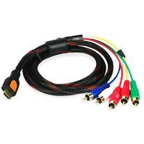 TOOGOO HDMI Male to 5 RCA RGB Audio Video AV Component Cable