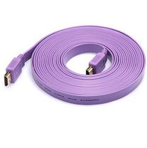 Lonve HDMI Noodle Cable Male to Male cable  Purple- Supports