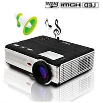 CAIWEI HDMI LED Projector 1080p Hd LCD USB Projector