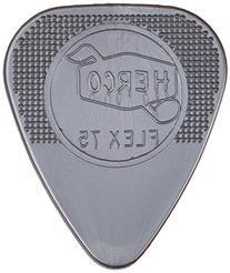 Herco® HE211P Flex 75 Nylon Flat Picks, Silver, Heavy, 12/