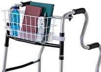 HealthSmart Universal Walker Basket with Plastic Insert Tray