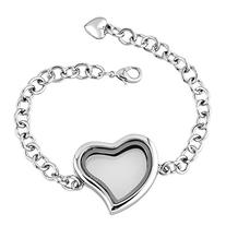 Heart Love Living Floating Charm Memory Locket Chain Star or