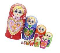 10pcs Heart Shape Beautiful Wooden Russian Nesting Dolls