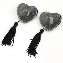 EUBUY Heart Tassel Bling Bling Nipple Covers Breast Bra Pad
