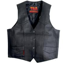 Hot Leathers Heavy Weight Cowhide Motorcycle Leather Vest