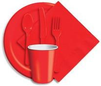 Heavy Duty Cutlery Assortment 24/Pkg-Classic Red