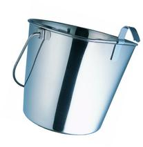 Indipets Heavy Duty Flat Sided Stainless Steel Pail, 1-Quart