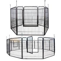 Large Heavy Duty Cage Pet Dog Cat Barrier Fence Exercise
