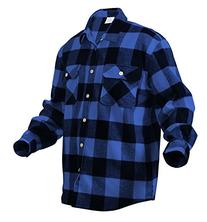 Rothco Heavy Weight Plaid Flannel Shirt, Blue, Large