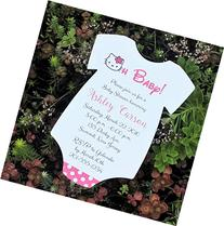 Set of 10 Hello Kitty Baby Shower Invitations - All Wording