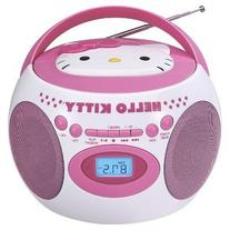 Hello Kitty Portable Bluetooth Cd Boombox with AM/FM Stereo