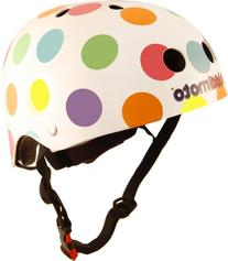 Kiddimoto Kids Helmet - Pastel Dotty