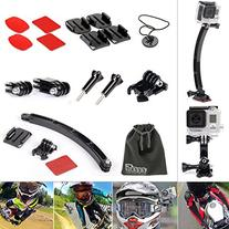 EEEKit Helmet Mount Kit For GoPro Hero 4/Black/Silver Hero 4