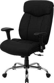 HERCULES Series 350 lb. Capacity Big & Tall Black Fabric