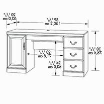 Heritage Hill Computer Credenza with Hutch Classic Cherry