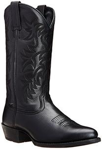 Ariat Men's Heritage Western R Toe Cowboy Boot, Black Deer