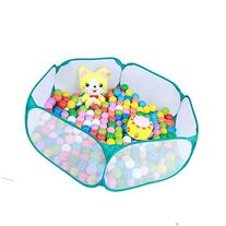 Aole-hw Hexagon Pop up Green Edge Ball Pit Pool with Mesh