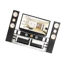 KINGSO Hi-Fi TV Cabinet Set Combo for Blythe Barbie Doll's