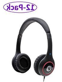 V7  12-Pack Hi-Fi Stereo Headphones w/ Volume Control