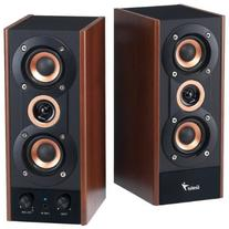 Genius 3-Way Hi-Fi Wood Speakers for PC, MP3 players, and
