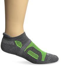 Balega Hidden Contour Socks, Charcoal/Neon Green, X-Large