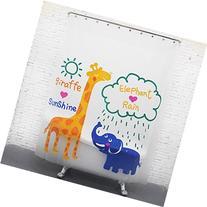 HIGOGOGO Waterproof Mildew Cartoon Giraffe and Elephant
