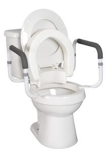 Hinged Toilet Seat With Arms