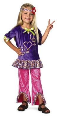 Child Hippie Girl Costume - Small 4-6