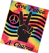 Hippie Tie Dye Tapestry Give Peace A Chance TD84