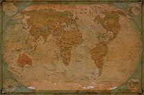 Great Art Historical World Map Poster XXL ñ Wall Picture