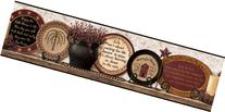 Country Plates with Heartwarming Sayings Wallpaper Border