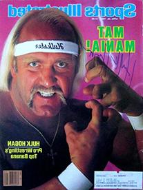 Hogan, Hulk 4/29/85 autographed magazine