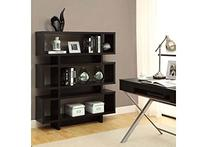 Monarch Specialties Hollow-Core High Modern Bookcase, 55-