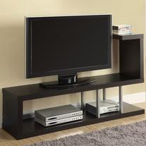 Monarch Hollow-Core TV Stand, 60-Inch, Cappuccino