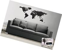 Stickerbrand Home Décor Vinyl Wall Art World Map of Earth