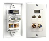 Home PHDM2RJRF1 HDMI/Mono RCA Audio/Coaxial/Dual Ethernet