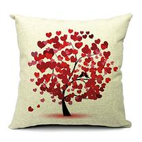 Home Style Cotton Linen Decorative Couple Throw Pillow Cover