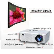 Taotaole HD Home Theater 720P Support 1080P LCD PROJECTOR