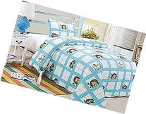 Homemusthaves Twin MultiColor Blue White Lion Theme 2PCS