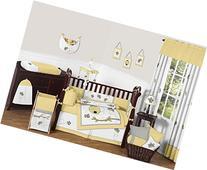Sweet Jojo Designs Honey Bumble Bee Hive Yellow, Gray and