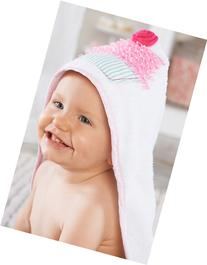 Infant Girl's Baby Aspen 'Baby Cakes' Hooded Terry Towel -
